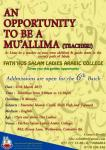 An opportunity to be a Mu'allima